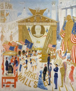 'The_Cathedrals_of_Wall_Street'_by_Florine_Stettheimer,_1939